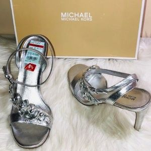 Michael Kors Tricia Metallic Sandals 8.5